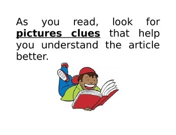 COMMON CORE  READING STRATEGY POSTERS FOR STUDENTS