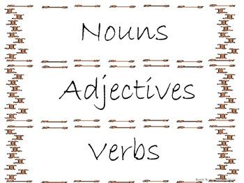 The Garden Of Abdul Gasazi - Noun Adjective Verb Sort