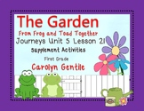 The Garden from Frog and Toad Together Journeys Unit 5 Lesson 21  Sup. Act.