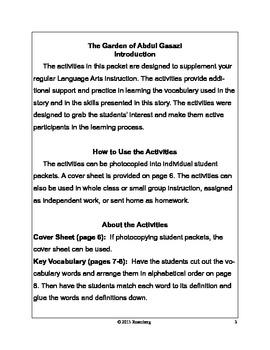 The Garden of Abdul Gasazi Original Activities and Test Practice