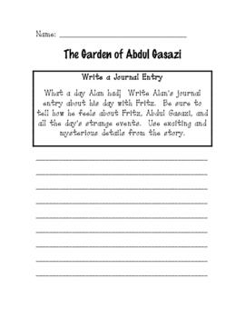 The Garden of Abdul Gasazi Unit Worksheets