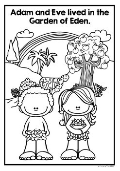The Garden of Eden- The Adam and Eve Story- Coloring and Puzzle Pages