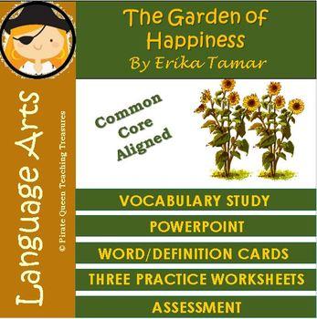 The Garden of Happiness Vocabulary Activities