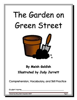 The Garden on Green Street {Comprehension and Written Response}
