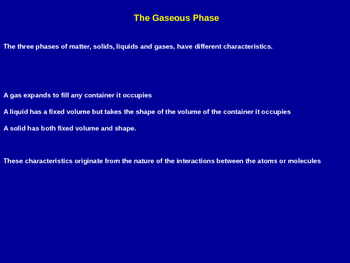 The Gaseous Phase Explained - Chemistry Quick Review (Presentation & Handout)