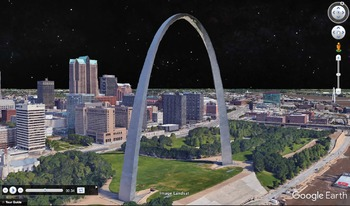 The Gateway Arch of St. Louis, Missouri with Google Earth Tours