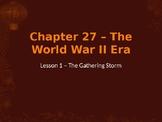 World War II - The Gathering Storm PowerPoint
