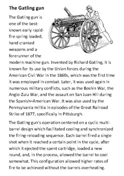 The Gatling gun Handout