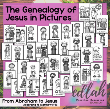 The Genealogy of Jesus in pictures - According to Matthew 1