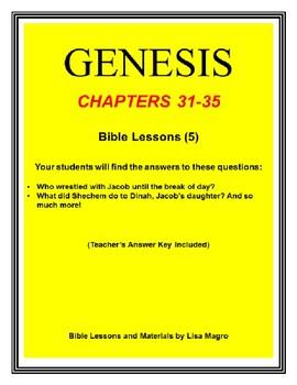 Bundle (5 weeks)  - Genesis Bible Lessons (Chs.31-35) (NKJV) No Prep w/TAK.