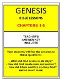 Genesis Bible Study (Chs.1-5) No Prep with Teacher's Answe
