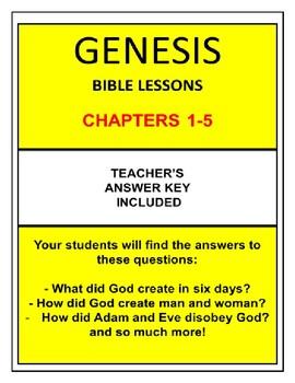 Genesis Bible Lessons Bundle (Chs.1-5) (NKJV) w/TAK. Begin 2019 with Genesis!