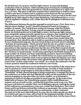 The Geneva Naval Conference 1927 Article with Summary Assignment
