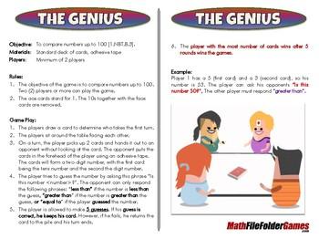The Genius - 1st Grade Math Game [CCSS 1.NBT.B.3]