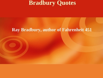 The Genius of Ray Bradbury Powerpoint