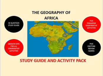 The Geography of Africa: Study Guide and Activity Pack