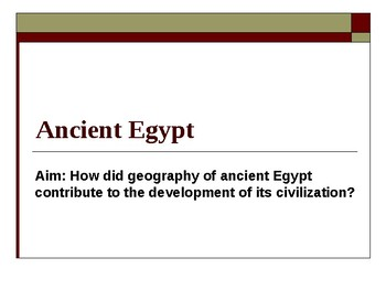 The Geography of Ancient Egypt