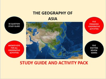 The Geography of Asia: Study Guide and Activity Pack