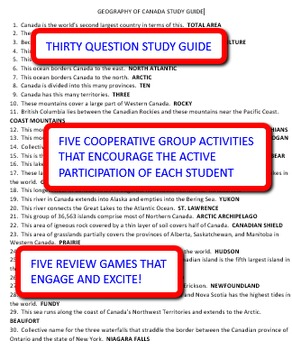 Geography of Canada: Study Guide and Activity Pack