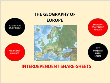 The Geography of Europe: Interdependent Share-Sheets Activity