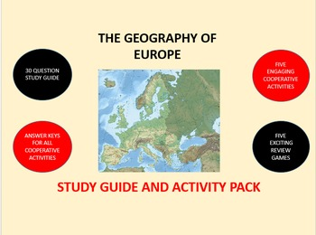 The Geography of Europe: Study Guide and Activity Pack