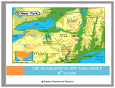 The Geography of New York Unit Plan, PBA, & Vocabulary Wor