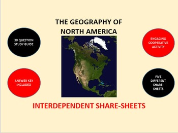 The Geography of North America: Interdependent Share-Sheets Activity
