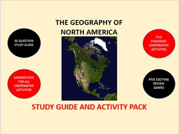 The Geography of North America: Study Guide and Activity Pack