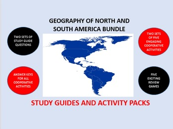 The Geography of North and South America Bundle: Study Guide/Activity Packs
