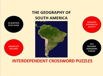 The Geography of South America: Interdependent Crossword P