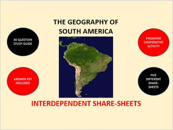 The Geography of South America: Interdependent Share-Sheets Activity