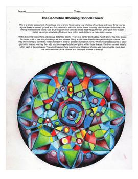 The Geometric Bonnell Blooming Flower Art Lesson