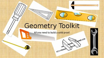 The Geometry Toolkit -- All you need to build a solid proof.