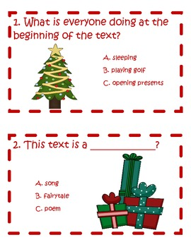 The Georgia Night Before Christmas Comprehension Scoot