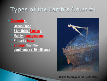 The Geosphere Part 1:  The Crust Power Point Presentation