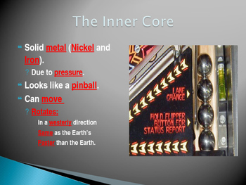 The Geosphere Part 3:  The Core Power Point Presentation