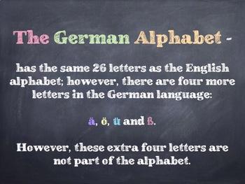 The German Alphabet PowerPoint