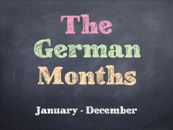 The German Months