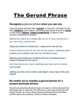 The Gerund Phrase