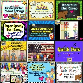 The Get Set for Kindergarten Kit!  Everything you need for back to school