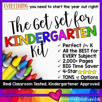 The Ultimate Back to School Bundle... The Get Set for Kindergarten Kit!