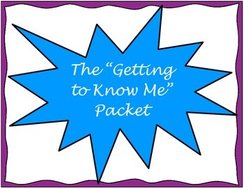 """The """"Getting to Know Me"""" Packet"""