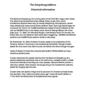 The Gettysburg Address Abraham Lincoln Guided Reading Worksheet
