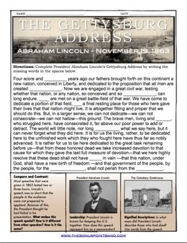 """""""The Gettysburg Address"""" (MP3 - song with handout)"""