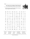 The Gettysburg Address Word Search (Grades 4-5)