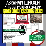 The Gettysburg Address by Abraham Lincoln Speech Analysis