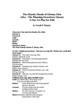 The Ghastly Ghouls of Gloomy Glen