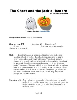 The Ghost and the Jack-o'-lantern Halloween Small Group Reader's Theater