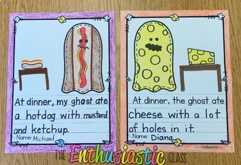 The Ghost's Dinner Writing Activity (Halloween Craft)