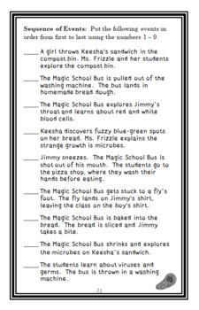 The Giant Germ (Magic School Bus #6) Novel Study / Comprehension  (26 pages)